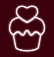 the image of the cupcake vector image vector image