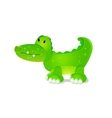 toy cute crocodile vector image vector image