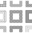 Universal different pattern brushes with corner vector image
