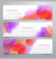 vibrant watercolor web headers set background vector image vector image