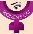 womens day gender symbol vector image