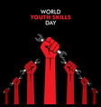 world youth skills day poster or banner design vector image vector image