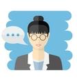 Teacher or business woman avatar vector image