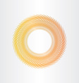 yellow abstract circle background vector image