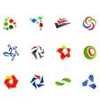 12 colorful symbols set 10 vector image vector image