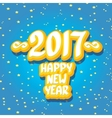 2017 Happy new year creative design background vector image vector image