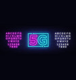 5g new wireless internet wifi connection neon sign vector image vector image