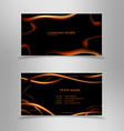 Abstract black business card vector image