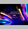 abstract cyberpunk landing page vector image vector image