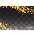 Abstract Sparkling Luminous Golden grainy abstract vector image vector image