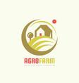 agro farm - logo template concept organic vector image