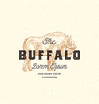 buffalo abstract sign symbol or logo vector image vector image