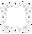 camellia flower outline frame border