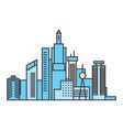 capital skyline line icon concept capital skyline vector image vector image