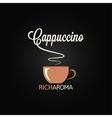 cappuccino cup menu design background vector image