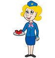 cartoon stewardess vector image