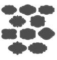 Chalkboard vintage labels and frames vector image vector image