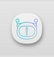 chatbot notification app icon vector image vector image