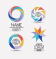 collection of colorful abstract geometric symbols vector image vector image