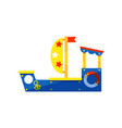 colorful ship for kids games children play area vector image vector image