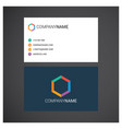 company business card design with unique style vector image