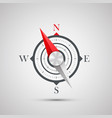 compass on a white background vector image vector image
