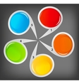 concept colorful circular banners for different vector image