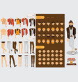constructor with handsome male character vector image