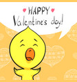 cute valentine postcard vector image