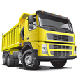 detailed image large yellow truck isolated vector image vector image