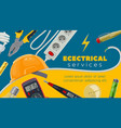 electric power energy cable tester light bulbs vector image vector image