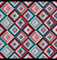 ethnic rhombus multicolor tribal seamless pattern vector image vector image