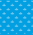 express air mail pattern seamless blue vector image vector image