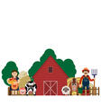 family farmers vector image vector image