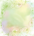 floral frame on watercolor background 2005 vector image vector image
