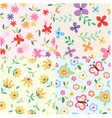 Floral set pattern vector | Price: 1 Credit (USD $1)