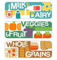 food groups banners vector image vector image