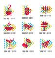 Food logo 1 vector image vector image