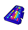 gaming keyboard cyber sports vector image vector image