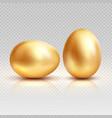golden eggs realistic vector image vector image