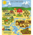 Great city map creator Village farm countryside vector image