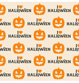 Halloween Seamless Pattern with Pumpkin vector image vector image