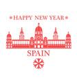 Happy New Year Spain vector image vector image