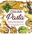 italian pasta macaroni and spaghetti sketch vector image vector image