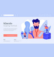 kinesiology taping concept landing page vector image vector image