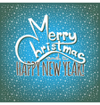 Merry Christmas and a Happy New Year Postcard vector image vector image