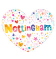 nottingham city in england vector image vector image