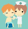 nurse and patient vector image