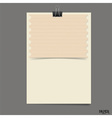 Old paper sheet ready for your message vector image vector image