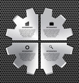 options infographic steel gear vector image